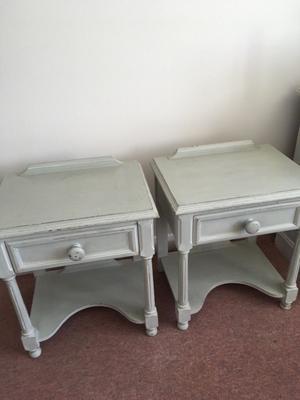 2 x vintage style bedside cabinets