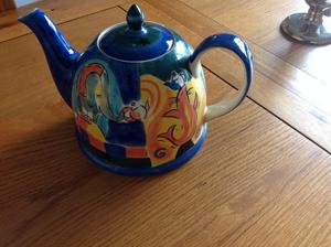 Delightful Large Whittards Teapot with circus design