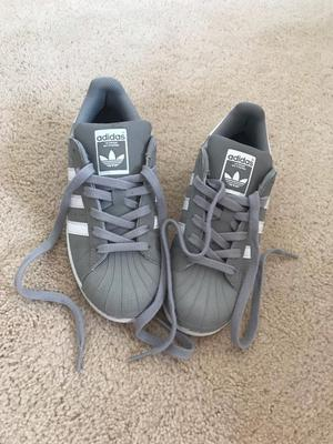 Grey/white Adidas Superstars size 3.5 LIMITED EDITION / EXCLUSIVE TO JD