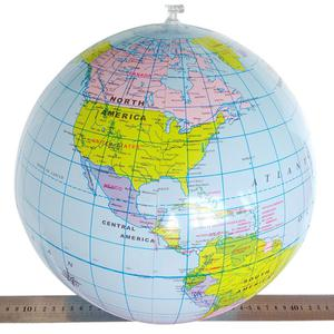 Inflatable World Globe Ocean Map Geography Ball Beach Play