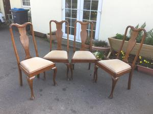 Queen Anne style dining chairs