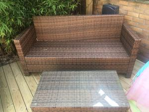 Rattan for sale with cushions in good condition (excludes the table)