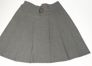 2 x Girls Grey School Skirts
