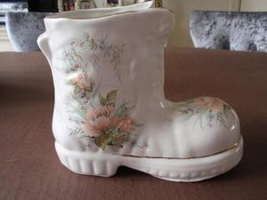 Boot Shaped Ceramic Planter / Plant Pot