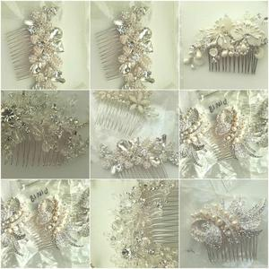 Bridal Hair Combs Crystal, Pearl, Diamante