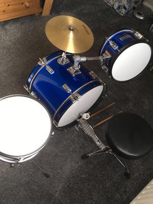 Kids drum kit with stool