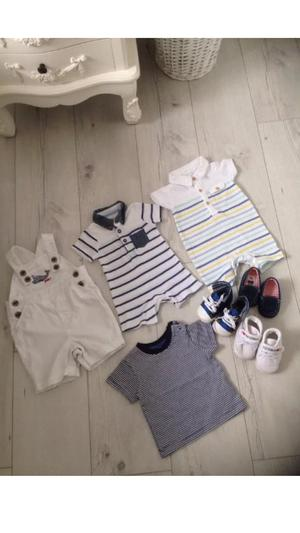 Large selection of baby boys clothes and footwear