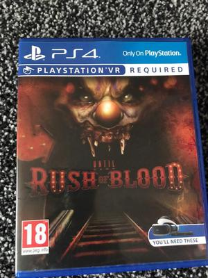 Rush of blood PS4 vr game