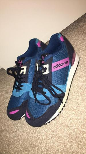 Women's Blue and pink Adidas trainers