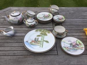 Beautiful oriental tea set.