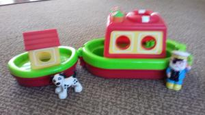 Happyland ELC tug boat with dog and captain