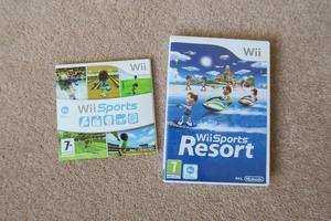 Nintendo Wii Sports and Wii Sports Resort games