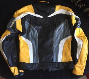 REV'IT leather motor bike Jacket with waist zip.