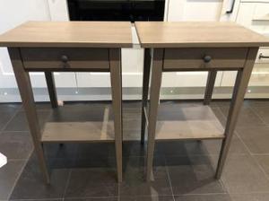 2 x Ikea Hemnes bedside tables/ nightstands