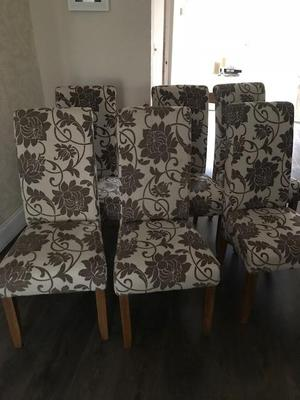 6 x Floral Design Dining Room Chairs