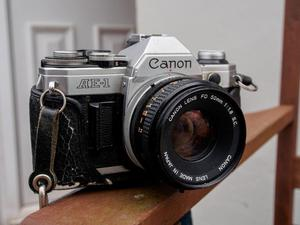 Canon AE1 Camera and Lens