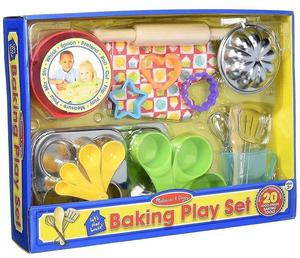 MELISSA & DOUG: LET'S PLAY HOUSE BAKING PLAY SET - inc 20
