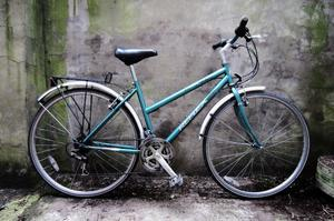 REFLEX. 18 inch, 46 cm. Ladies women's hybrid road bike, 18 speed