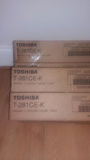 4 x Toshiba T-281CE-K Black/Blue/Yellow/Pink Toner