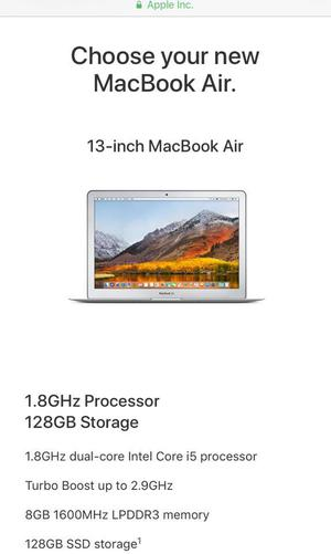 "Brand new, used twice - 13"" Mac Book Air."
