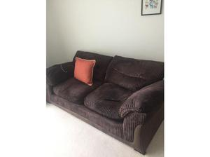 Free brown 2 seater sofa in Colchester