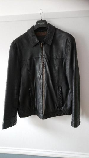 Ladies' lined brown leather blouson style jacket. Size