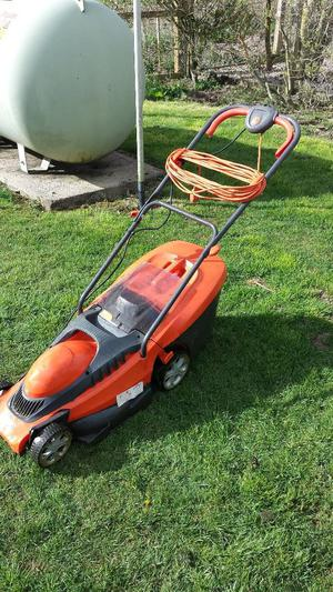 flymo chevron 37vc electric wheeled lawnmower w 240v