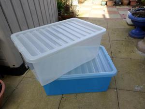 2 Large plastic boxes