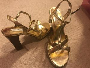 Gold Heels by Dolcis