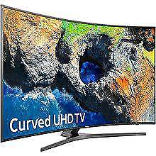 """Samsung 40"""" curved 4K UHD smart WiFi. HD free view clear crystal picture."""