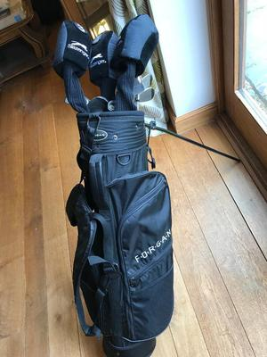 Full set golf clubs and bag