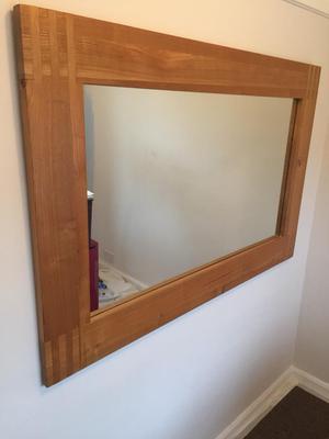Large light oak mirror as new £85