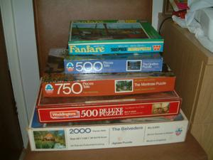 For Sale 5 puzzles all complete and in good condition, boxes complete puzzles as pictures