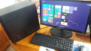 """HP Compaq CQ Desktop PC, 22"""" flat monitor, Keyboard &"""