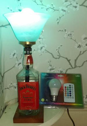 One off 'Jack Daniels' LED remote control lamp