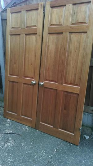 Pair of Solid wood double Doors quality fittings