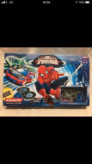 Ultimate Spiderman Slot Racing Car Racing Track Set By Carrera Toy Box