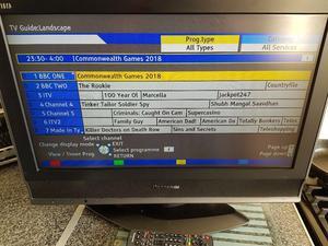 "28"" Panasonic TV & Remote With Manual"