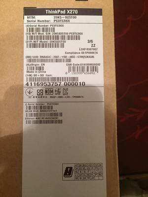 Brand new sealed Lenovo thinkpad x270 laptop/notebook never used