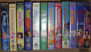 Collection of 12 Disney VHS Videos (c)
