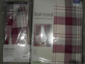 Dunelm Balmoral Red Eyelet Curtains