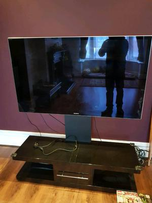 Sony 55 inch 3d tv with stand and cabinet OR NEAR OFFER