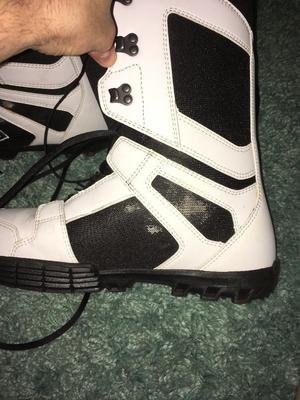 White and Black DC Snowboard Boots - Size 9
