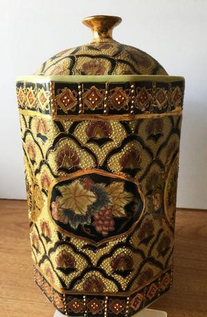 A six-sided Satsuma style ginger jar.