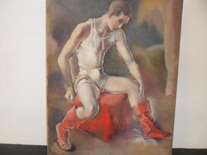 Dancer in Red Boots - oil on canvas - c.s