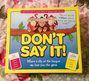 Don't Say It Board Game by Paul Lamond Games. Boxed, Complete And VGC.