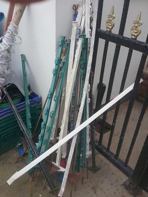Electric fence posts and wire