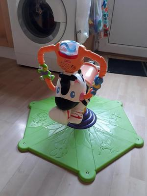 Fisher Price Toy Bounce and spin Rodeo Zebra