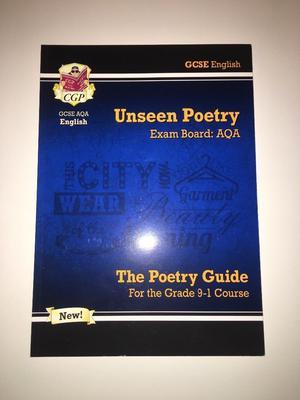 GCSE AQA English Unseen Poetry.