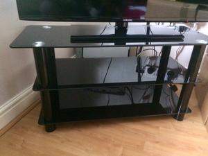 High gloss black TV stand corner unit